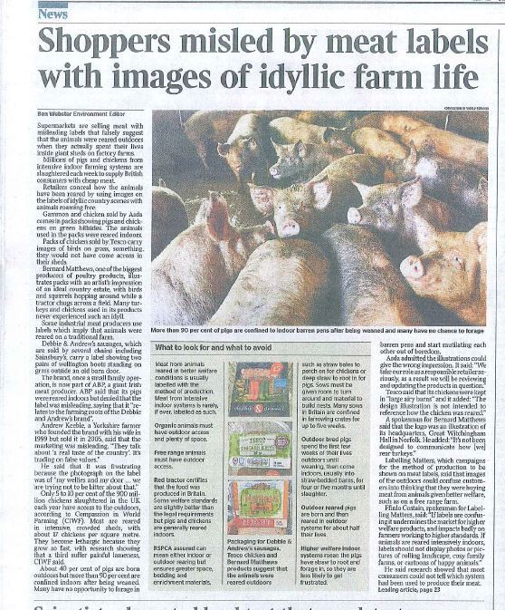 Farming Uk Meat Processing News: 'Shoppers Misled By Meat Labels With Images Of Idyllic