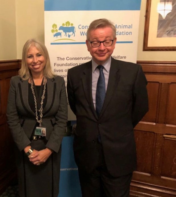 michael gove lorraine platt conservative animal welfare foundation banner
