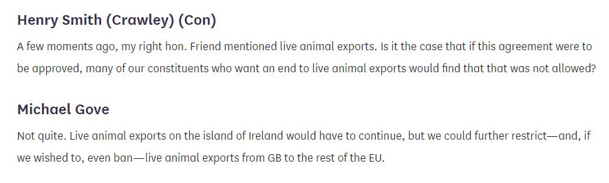 henry smith to mr gove snip right live exports